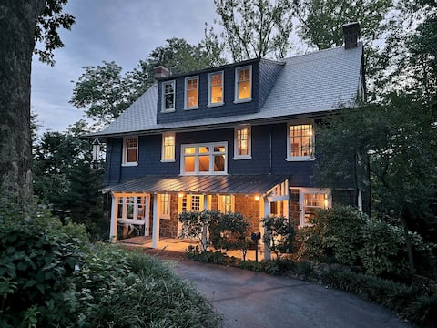 Historic Craftsman home nestled on wooded lot