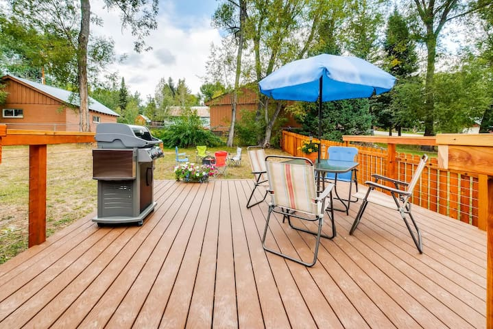 Big Deck, right off of house in large private fenced in back yard!