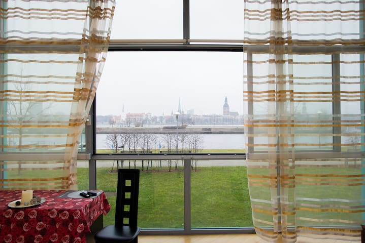 Superior view to Riga over Daugava - Riga - Departamento
