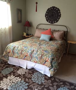 Bedroom, private bath & entrance, light breakfast - Del Rey Oaks