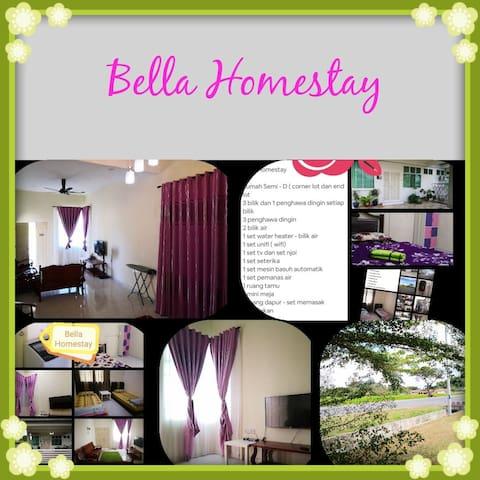 Bella Homestay 3 bilik aircond - Muslim Only