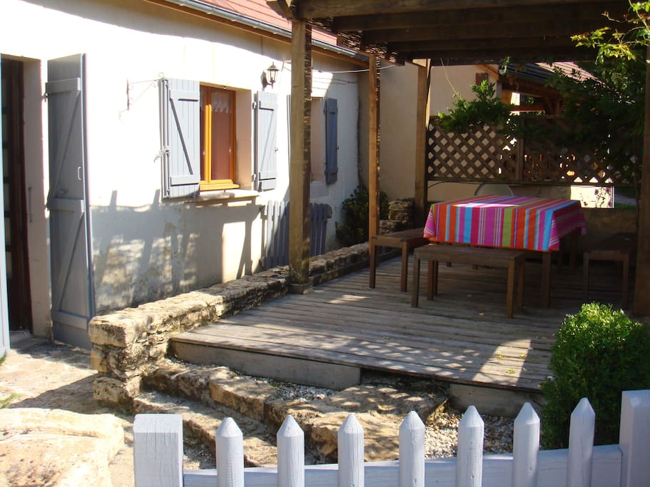 Terrasse pergola