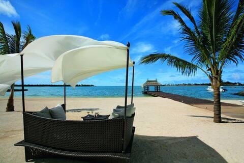 Belle villa à l'île Maurice face à l'île aux cerfs