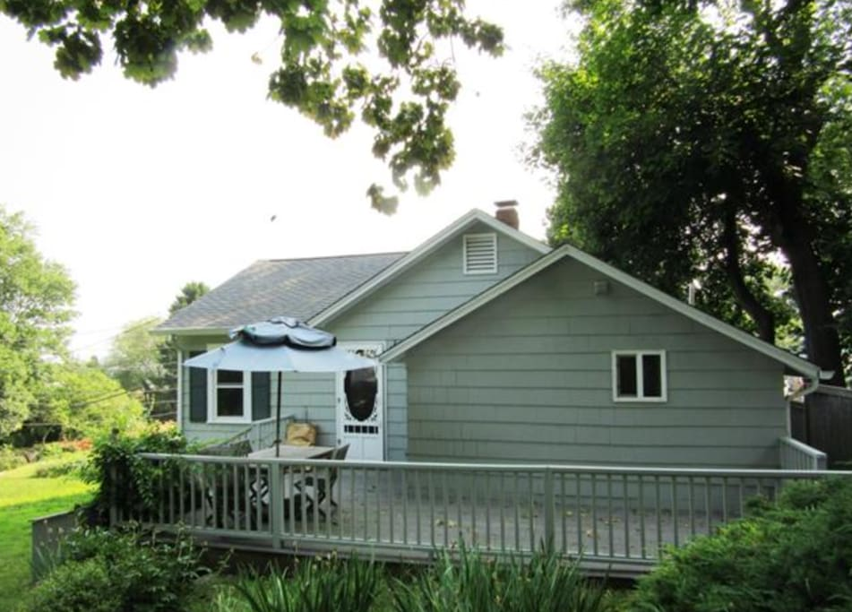Walk to the water beach house with views cottage in for The guilford house