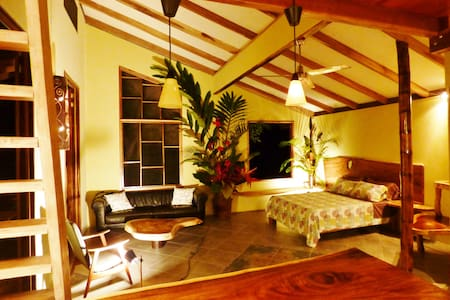 Luxurious jungle immersion. Experience the jaw-dropping river view from your hammock in this magazine-worthy loft Suite. Ideally located for those who want to be near town and the best Caribbean beaches.5 min to store, restaurants. Read our reviews:)