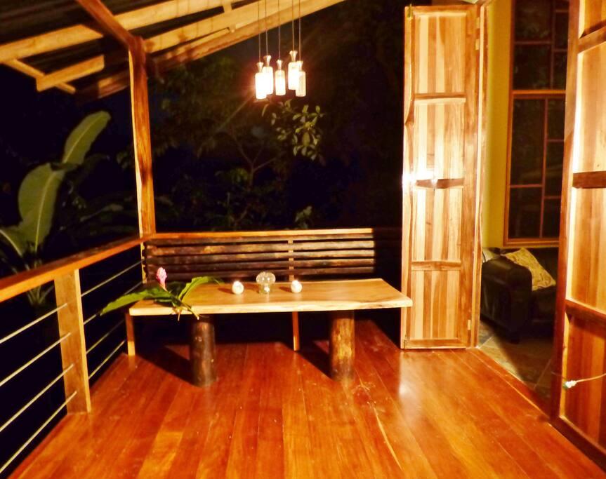Romantic evenings on the deck...