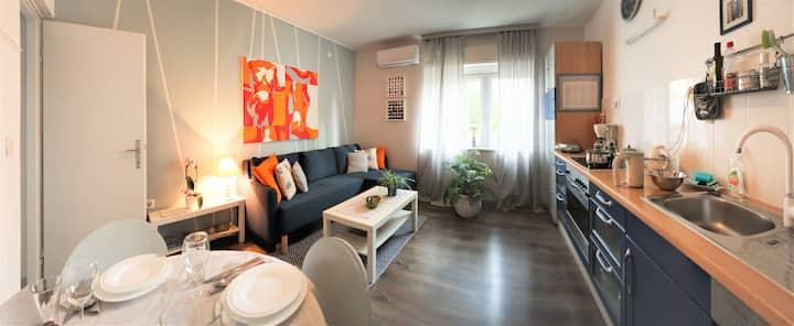 Hidden serenity in 1BD apartment