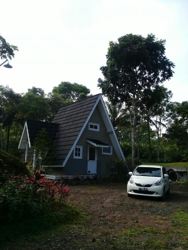 Rumah Tiny House dgn taman dan halaman luas