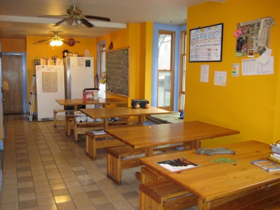 This is the shared dining room