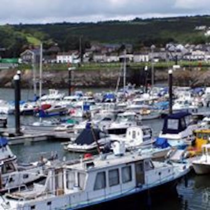 Corner of Burry Port Marina