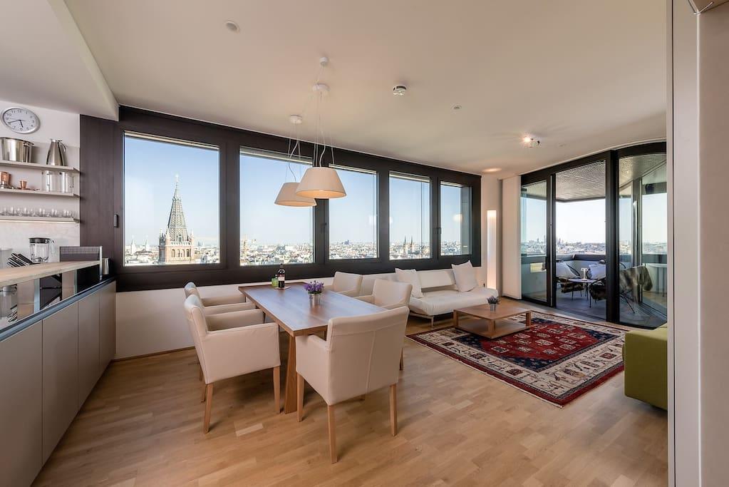 Vienna City View Living Room