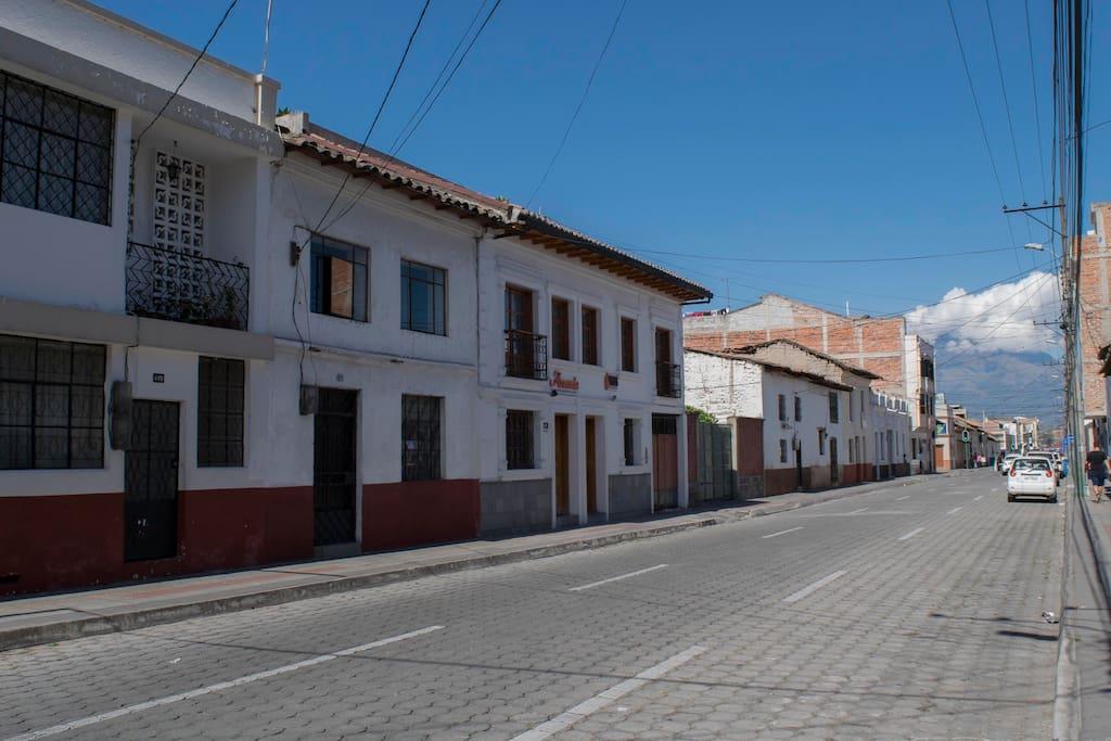 El barrio en el centro histórico.