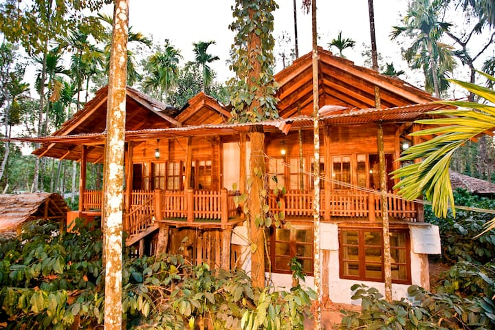 Log House - Luxurious Home Stay in Chickmagaluru.