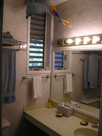 Full bathroom, island breeze...