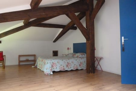 La Palombiere Chambre bleue - Linxe - Bed & Breakfast