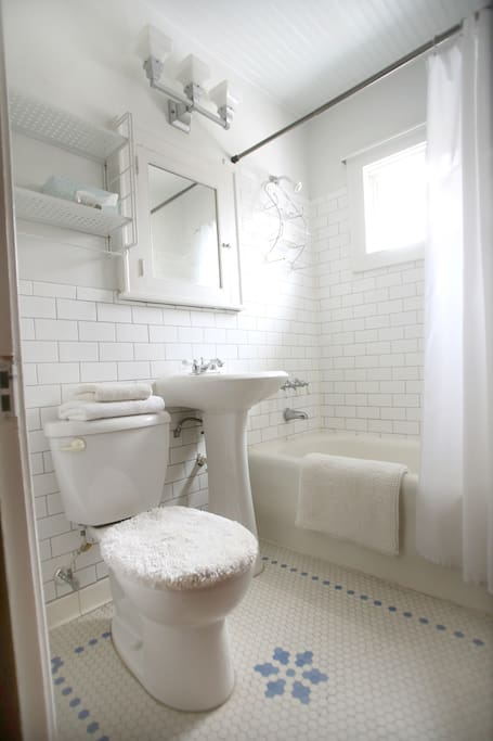 Private shower and bath.