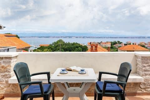Výhľad na more apartmán Mateo