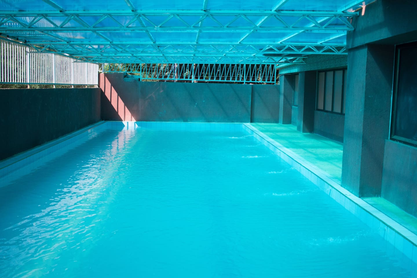Large All weather swimming pool accessible to you on the Ground floor