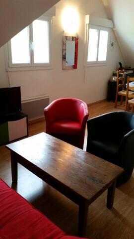 joli appartement 45m2 avec 2 chambres en mezzanine - Dives-sur-Mer - Daire