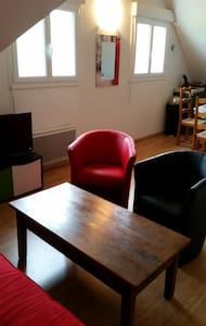 joli appartement 45m2 avec 2 chambres en mezzanine - Dives-sur-Mer - 아파트
