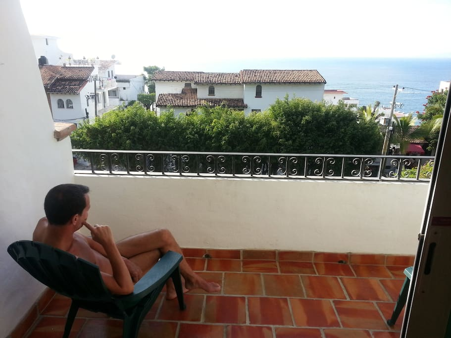 Spectacular view of the Bay of Banderas from balcony