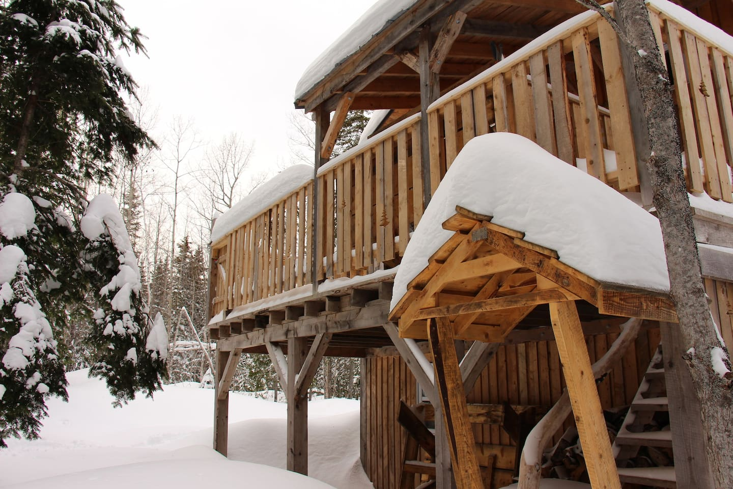 Our guesthouse in the winter