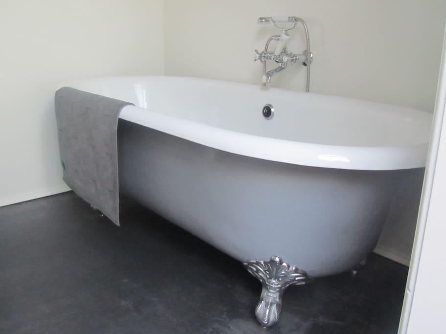Natuurlijk lekker in een echt bad!