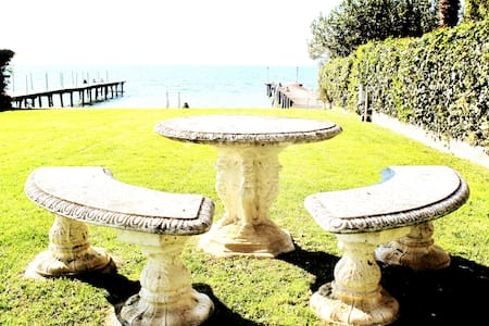 Sirmione the best garden and jetty lake front