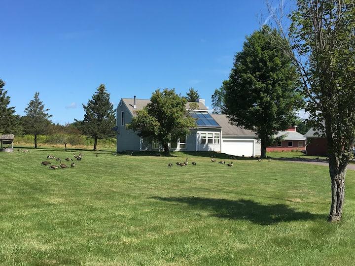 Farmhouse between Mountains and Burlington