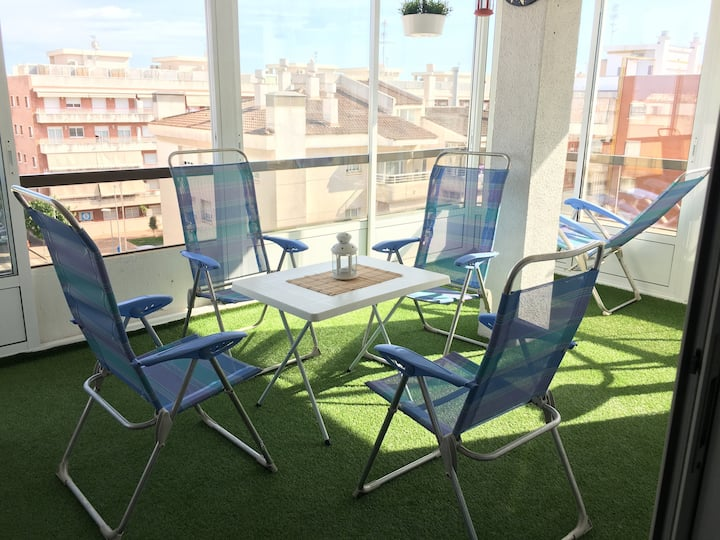 Nice apartment with solarium and views