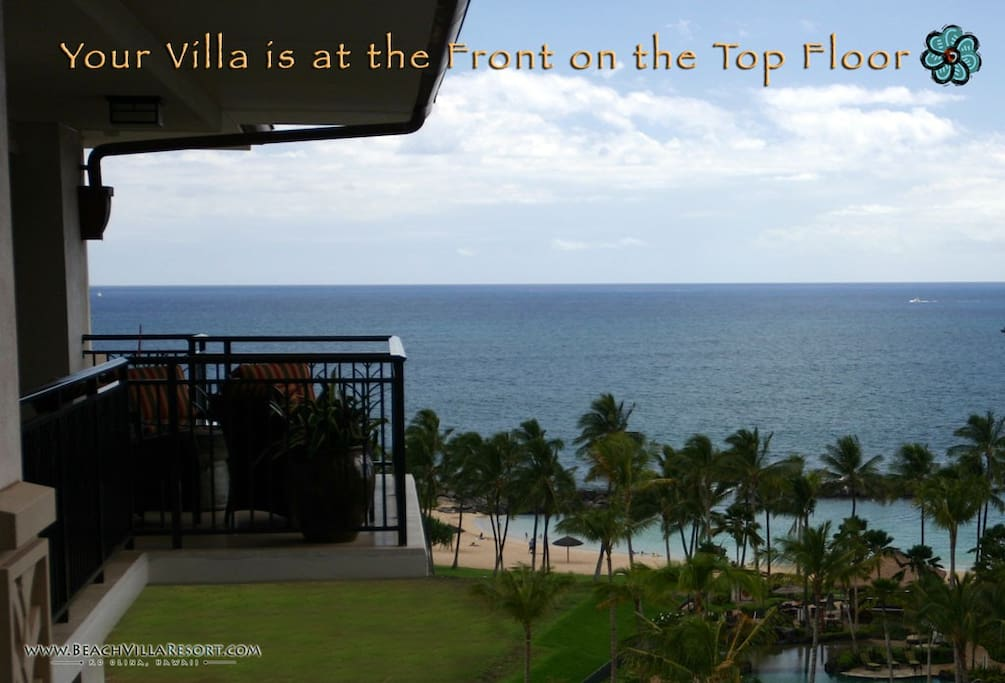 The magnificent ocean view from your lanai.