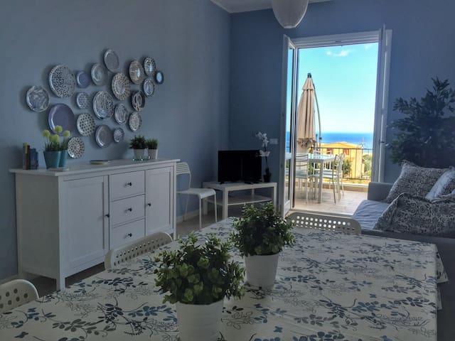 Un mare di blu: Casa Azzurra - Macari - Apartament