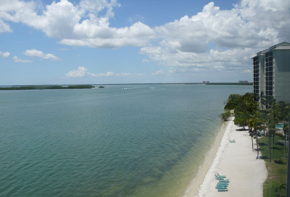 View from Sanibel Bay View Condo toward Private Beach