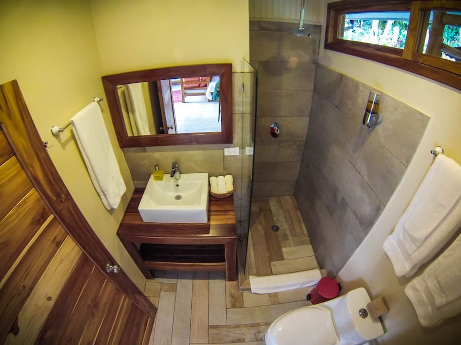Bathroom in the Guanacaste suite