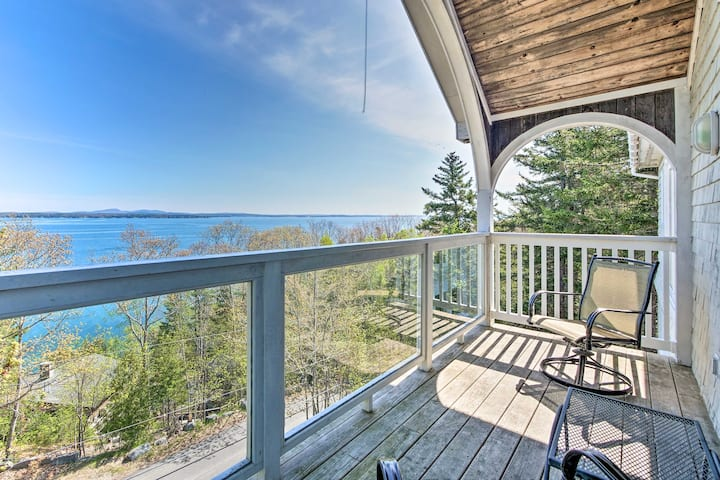 Turret-Style Home w/Deck + Views of Frenchman Bay!