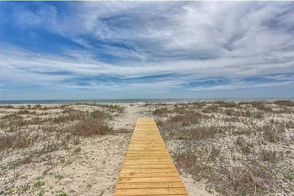 Walk out to the sugar sand on this new boardwalk!