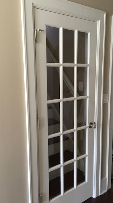 Door to separate the dormer space from the rest of the house.