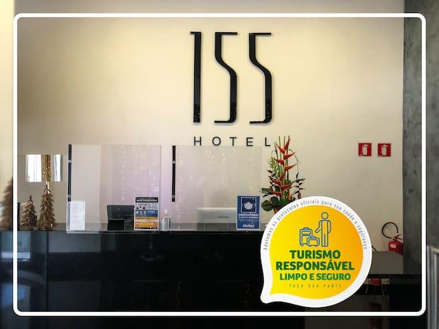 155 HOTEL - Modernidade, conforto e praticidade.