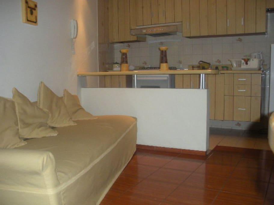 Living área + kitchenette