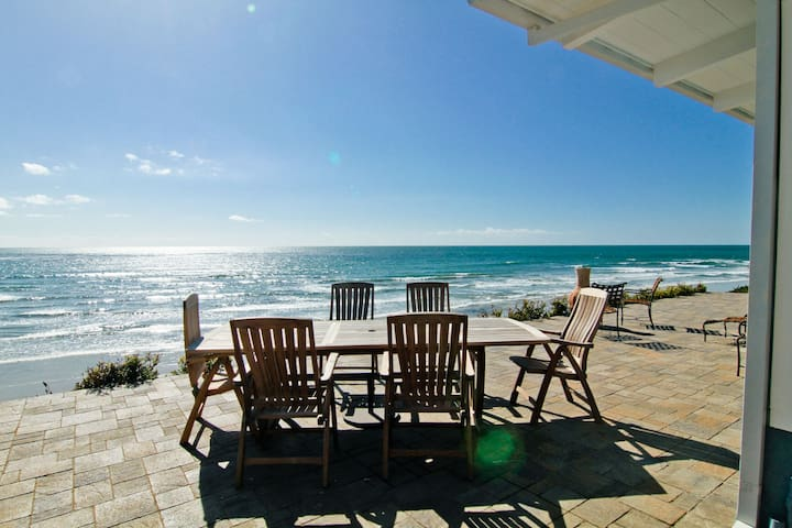 Outdoor Dining Space Near the Beach
