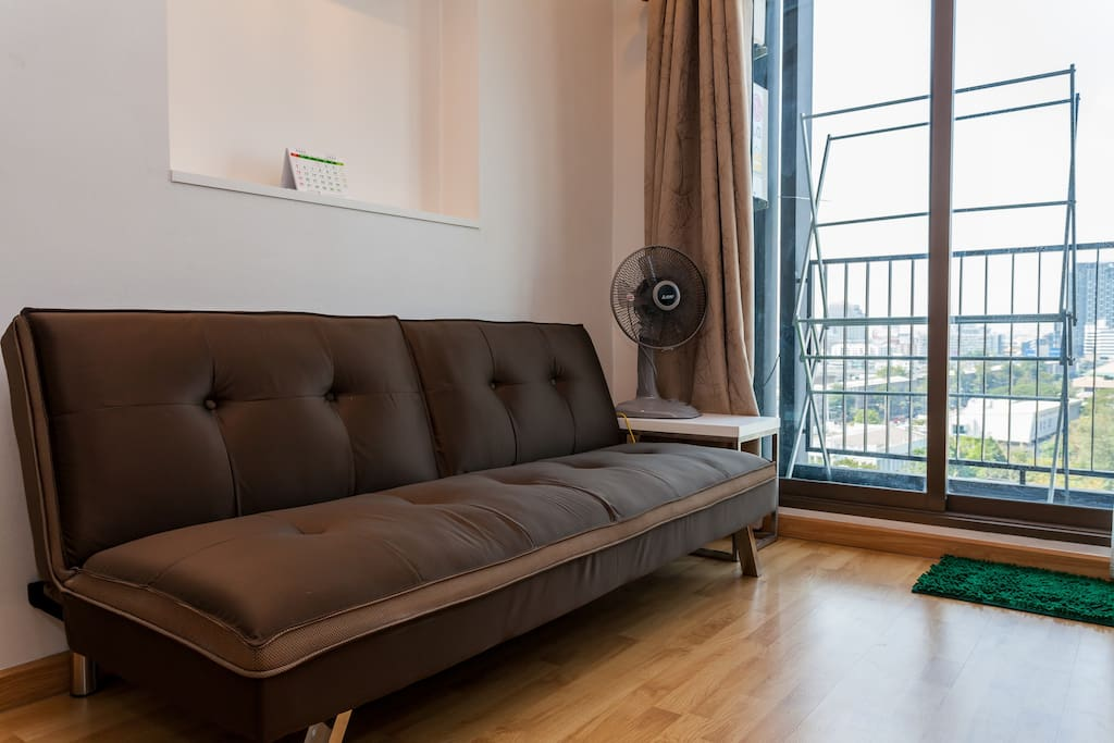 soft and nice sofa bed (third person can sleep here)