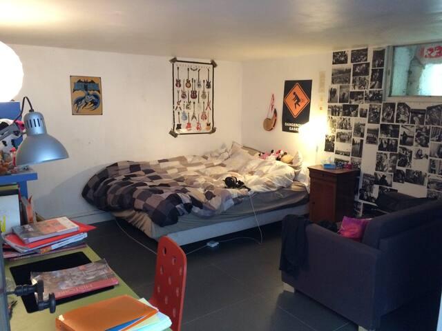 Chambre 15m2 dans loft calme proche Paris