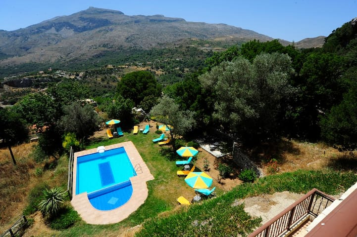 A panoramic view of the villa and its surrounding area and view!