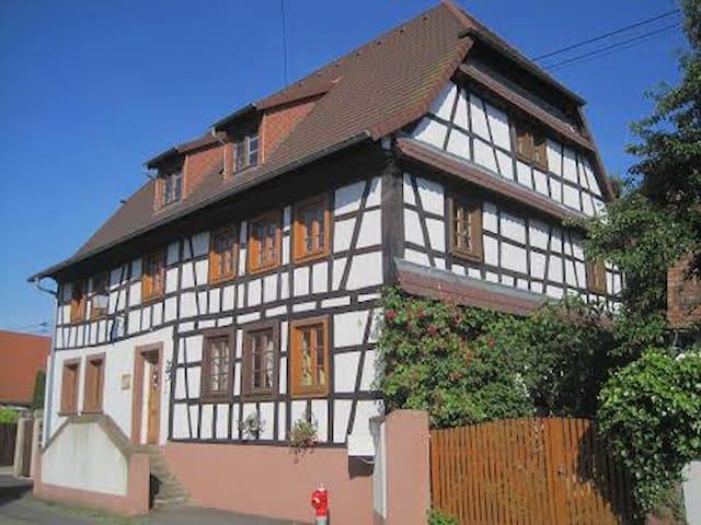 Historisches Bauernhaus im Grünen - Altenstadt bei Wissembourg - ที่พักพร้อมอาหารเช้า