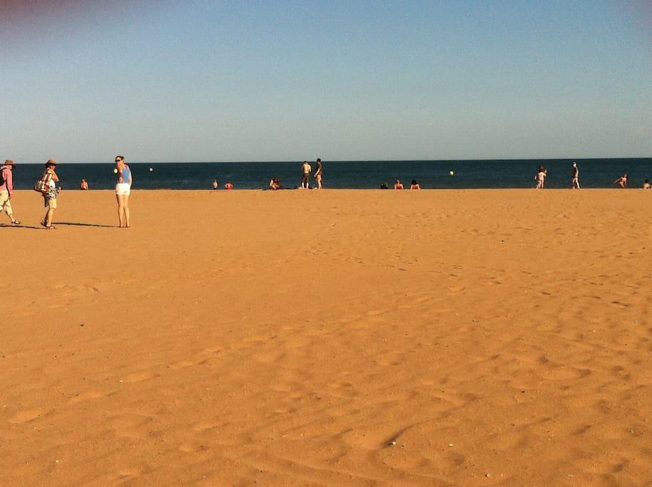 la plage de Valras-Plage 4km de long et 40 mètres de large
