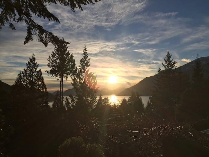 Stylish West Coast modern mountain cabin