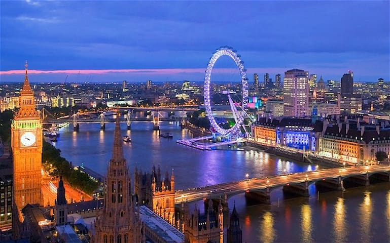 London at night