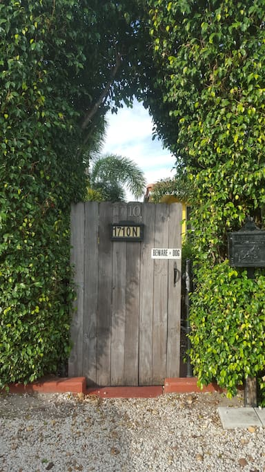 Our entrance gate.  Just walk on in.