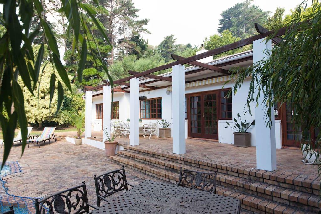 The cottage set in established  gardens
