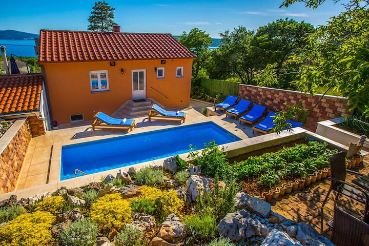 Villa  Periska with pool sauna and amazing view